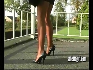 wife mini skirt video