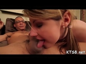 young bitch sucks big cock