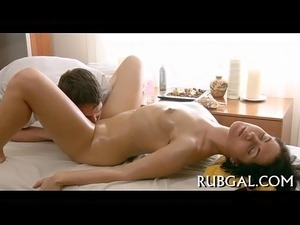 asian girl gettting massage video