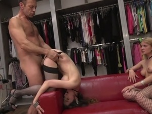 Hot and gorgeous white sluts having wild sex with Italian stud