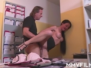 fuck secretary with wife outside