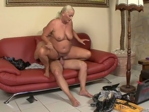 Marvelous and mature blonde woman is still horny and kinky for sex and dick