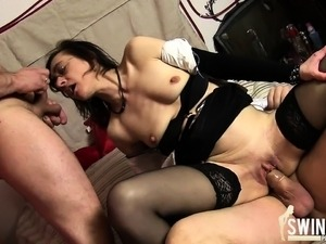 horny threesome hot fuck videos