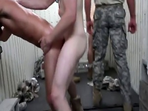 Military training turns into hardcore ass fucking