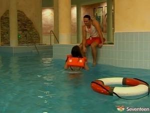 teen girls pool