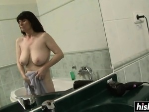 Hot sexy girl in shower