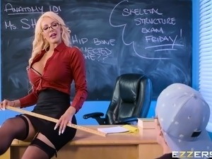 sexy blonde school girl