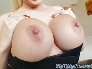 Gorgeous milf sprayed with jizz after bj