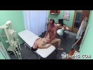 young sexy girl at doctor