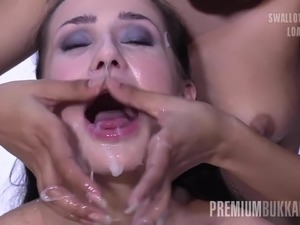 big tits with dick in mouth