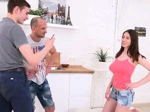 BF Shares Hot GF Clary With Boss For Some Cash