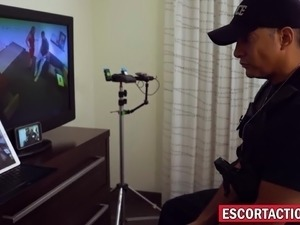 erotic police frisking video
