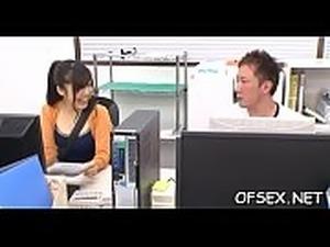 desk office blonde and black