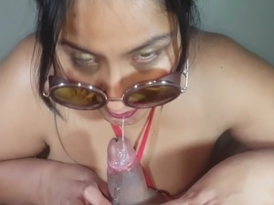 older young girl forces her swallow