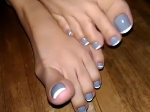 mature feet handjob