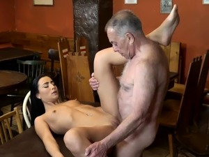 step daughter lesson kitchen sex video