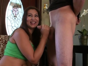Filthy latin brunette lady Jessica Sanchez blowing well