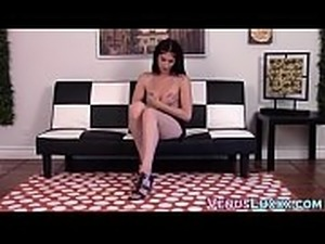 transexual teen playing with anal pump