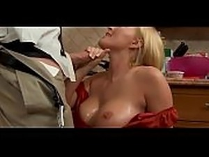 mature sex in the kitchen