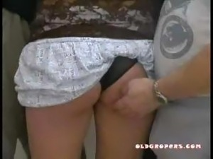 video young boy groping his mother