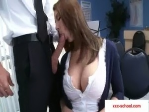 high school girl gives handjob