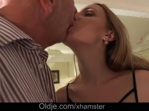 old guy fucking young blonde